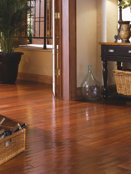 Solid hardwood floors